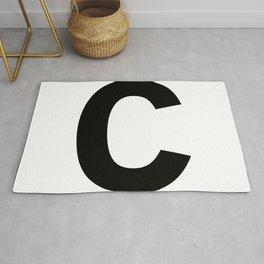 Letter C (Black & White) Rug