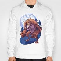 werewolf Hoodies featuring Werewolf by Frankie Green