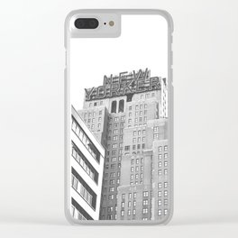 New Yorker Sign - NYC Black and White Clear iPhone Case