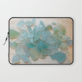 Ocean Hue Sea Glass Laptop Sleeve