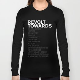 Revolt Towards (White) Long Sleeve T-shirt