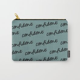GOOD VIBES - CONFIDENT (blue) Carry-All Pouch