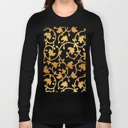 Golden Damask pattern Long Sleeve T-shirt