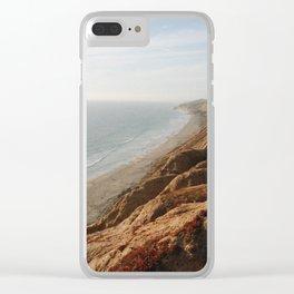 Vintage Beach Cliffs Clear iPhone Case
