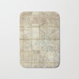 Map of Yellowstone National Park (1886) Bath Mat