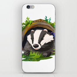 Badger and Bluebells iPhone Skin