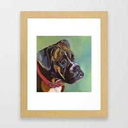 Boxer Dog Keeley Pet Portrait Framed Art Print