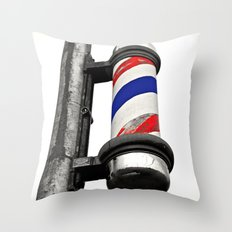 Haircuts here Throw Pillow