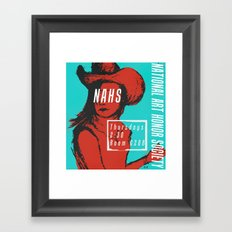Cowgirl-Red Version Framed Art Print