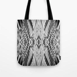PRETTY BLACK & WHITE LINE PATTERN Tote Bag