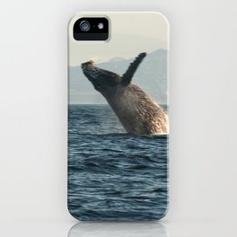 Breaching Whale Photography Print iPhone Case