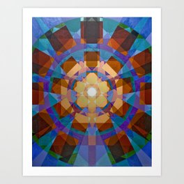 Square Explosion Art Print