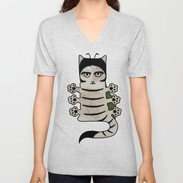 Cat insect Kafka. Metamorphosis. Unisex V-Neck