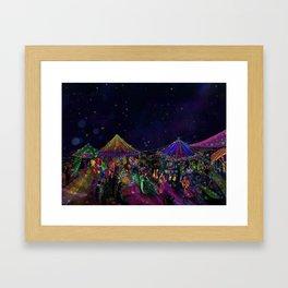 Magical Night Market Framed Art Print