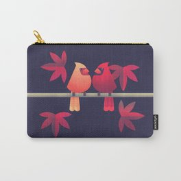Northern Cardinals on a Japanese Maple Carry-All Pouch