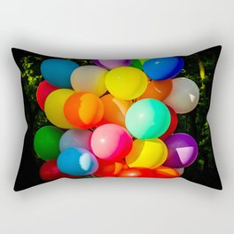 Colorful Toy Balloons Rectangular Pillow