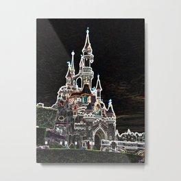 dlp neon castle Metal Print