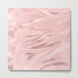 Rose Quartz Satin Metal Print