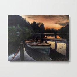 Golden Sunset over Loch Ard Metal Print