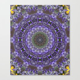 Lavender Kaleidoscope Canvas Print