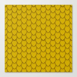 Dragon Scales in Gold Canvas Print