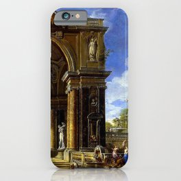 Giovanni Paolo Pannini Masterpiece: Circe Entertaining Odysseaus at a Banquet iPhone Case