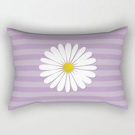Daisy Flowers, Petals, Blossoms - White Yellow  Rectangular Pillow