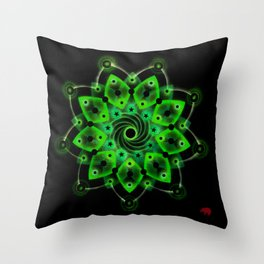 Green Resonance 9:2:3 Throw Pillow
