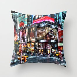 Times Square New York Throw Pillow