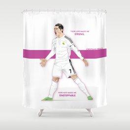 Cristiano Ronaldo Illustration Shower Curtain