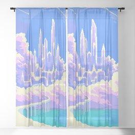 Cloud Castle  Sheer Curtain