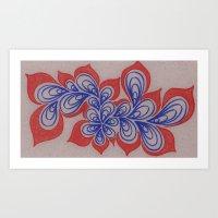 Drops and Petals  Art Print