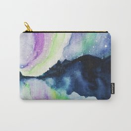 Northern Lights Watercolor Carry-All Pouch
