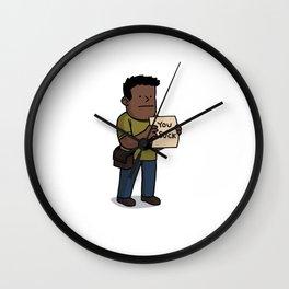 Fact Bag Man Wall Clock