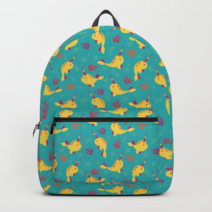 To the Window to the Narwhal - Lemon & Blue Backpack