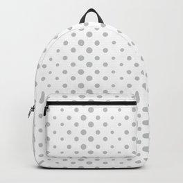 Polka dots grey fabric #society6 #decor #buyart #artprint Backpack