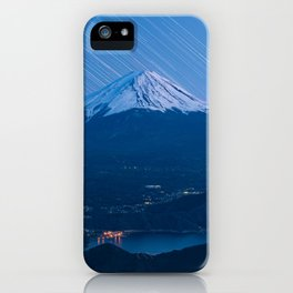 Interstellar - Mount Fuji with Star Trails (富士河口湖) iPhone Case