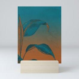 Plant at sunset Mini Art Print