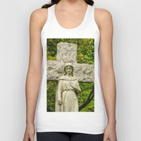 religious Tank Tops featuring Religious Statue by Michael P. Moriarty