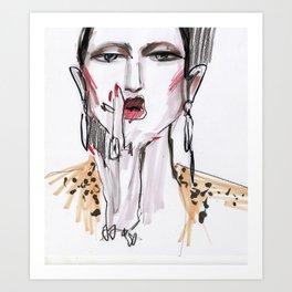 Smoking #fashionsketch Art Print