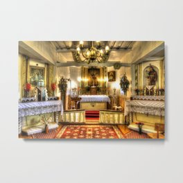 Zosna Old Countryside Church Latvia Metal Print