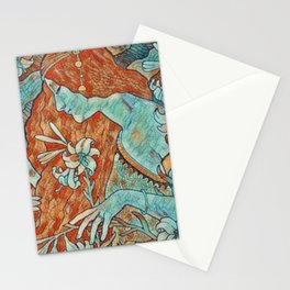 Art Noveau Portrait Stationery Cards