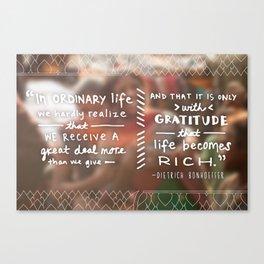 With Gratitude Canvas Print