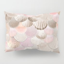 MERMAID SHELLS - CORAL ROSEGOLD Pillow Sham