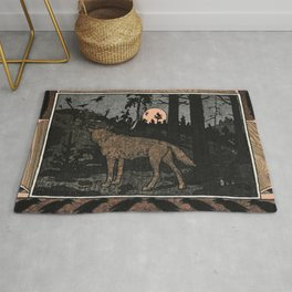 Wolf in the Night By Ivan Biblin Rug