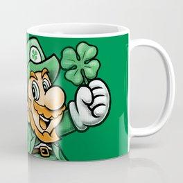 Lucky Mario Leprechaun Coffee Mug