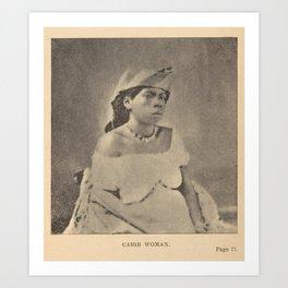 Alice Dixon Le Plongeon - Carib Woman (1889) Art Print