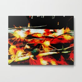 Flames in the Forest Metal Print