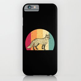 Fox Vintage iPhone Case