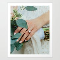 Diamond Engagement Ring Art Print